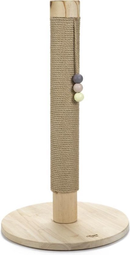 Blank houten krabpaal (70cm)