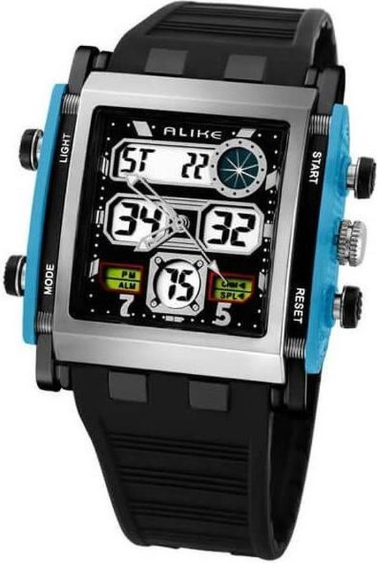 Digitale & Analoog Horloge Sports Quartz Blue - ALIKE
