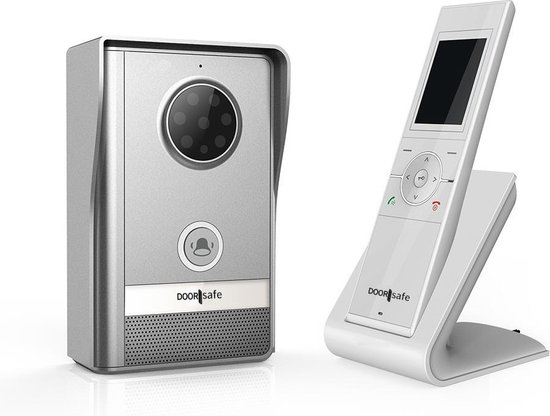 Draadloze Camera Deurbel - 2,4 inch kleurenscherm - Doorsafe 4250 - Doorsafe