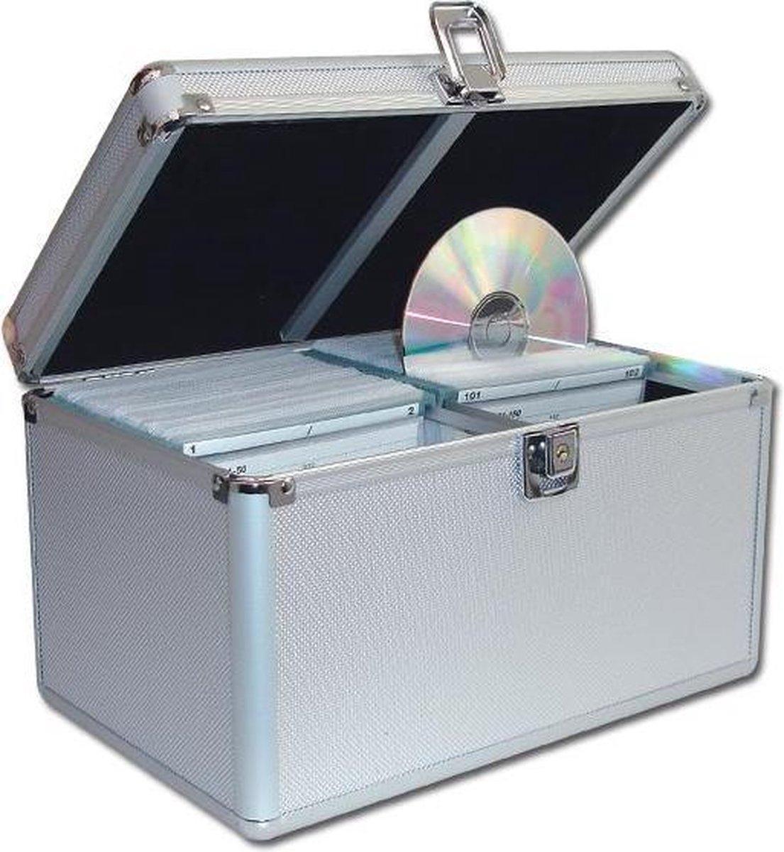 CD / DVD koffer, DJ Case voor het opbergen van 200 CDs, DVDs of Games, afsluitbaar. - VDD
