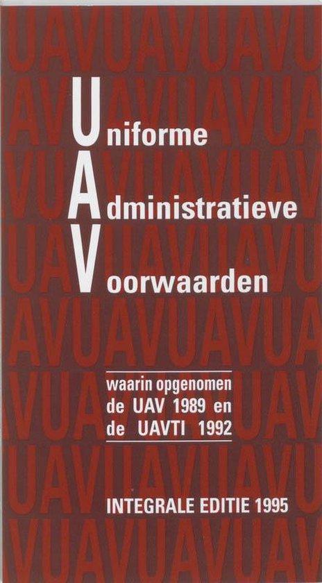 Uniforme Administratieve Voorwaarden integrale editie 1995 - F.H. van den Bercken   Fthsonline.com