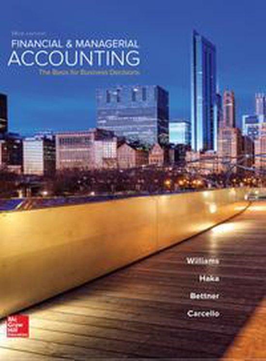Boek cover Financial & Managerial Accounting van Jan Williams