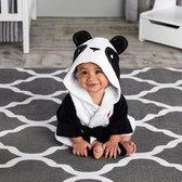 Baby Panda Badjas - Zwart/wit - Fleece - one size