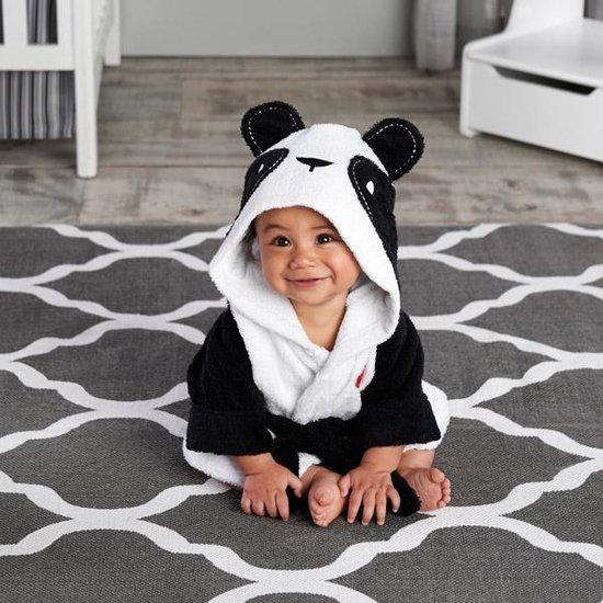 Product: Baby Panda Badjas - Zwart/wit - Fleece - one size, van het merk promission Trading