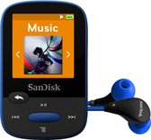 Sandisk Sansa Clip Sports - MP3-speler - 8 GB - Bl