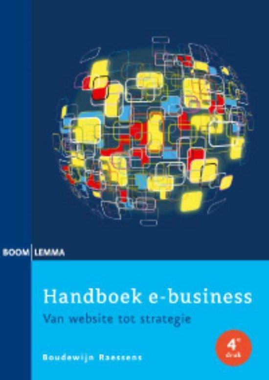 Cover van het boek 'Handboek e-business'