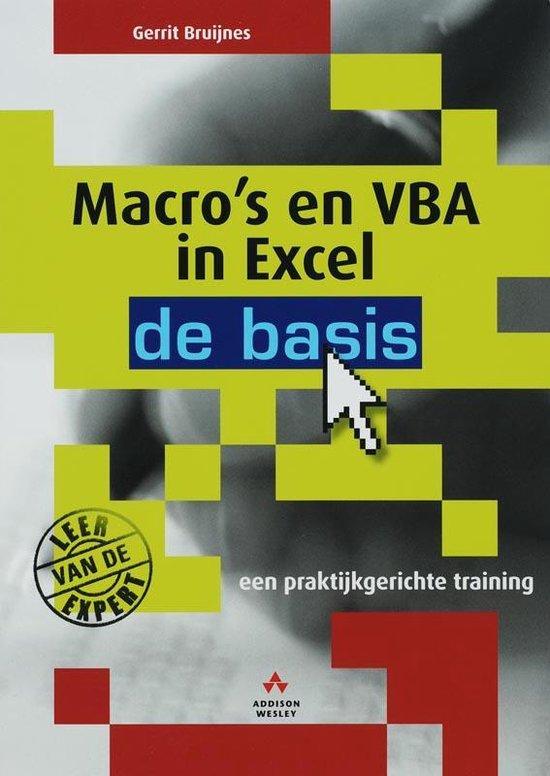 Cover van het boek 'Macro's en VBA in Excel: de basis'