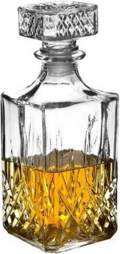 JY&K Whiskey karaf - 900 ML - Glas - Met Deksel
