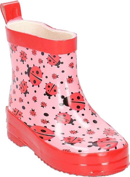 Playshoes halfhoge regenlaarzen roze lieveheersbeestje