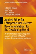 Applied Ethics for Entrepreneurial Success: Recommendations for the Developing World