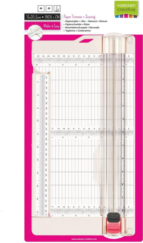 Vaessen Creative Papiersnijder en Riller 15,2 x 30,5 cm