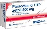 Healthypharm Paracetamol 500 mg - 10 Zetpillen - Pijnstillers