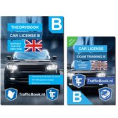 Driving Car License B Theorybook English + 15 hours online exam training 2020