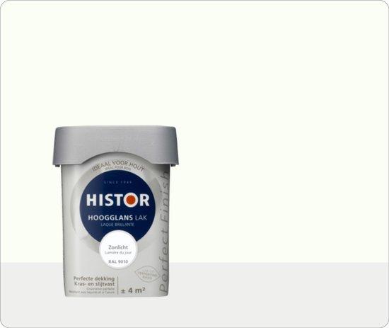 Histor Perfect Finish Lak Hoogglans 0,25 liter - Zonlicht (Ral 9010)