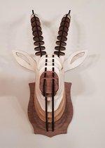 """Diervriendelijke houten jachttrofee """"Gazelle"""""""