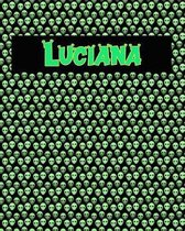 120 Page Handwriting Practice Book with Green Alien Cover Luciana