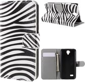 Huawei Y5 Hoesje Zebra met Opbergvakjes