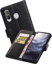Zakelijke Bookstyle Hoesje voor Samsung Galaxy A8s Zwart