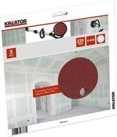 Kreator KRT232011 Vijf schuurpapieren – rond (excentrisch) – korrel K400