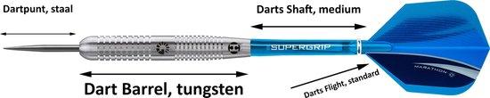 Harrows – Genesis B – 60% Tungsten – dartpijlen - met 9 - dartshafts - en 9 - dartflights - 22 gram - dartpijlen