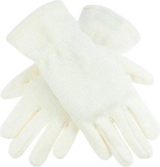 Creme kleurige fleece handschoenen M/l