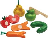 Kromkommer PlanToys groente en fruit speelset
