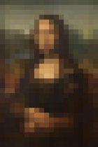 Mona Lisa | Pixel Art | Leonardo da Vinci | Canvasdoek | Wanddecoratie | 40CM x 60CM | Schilderij