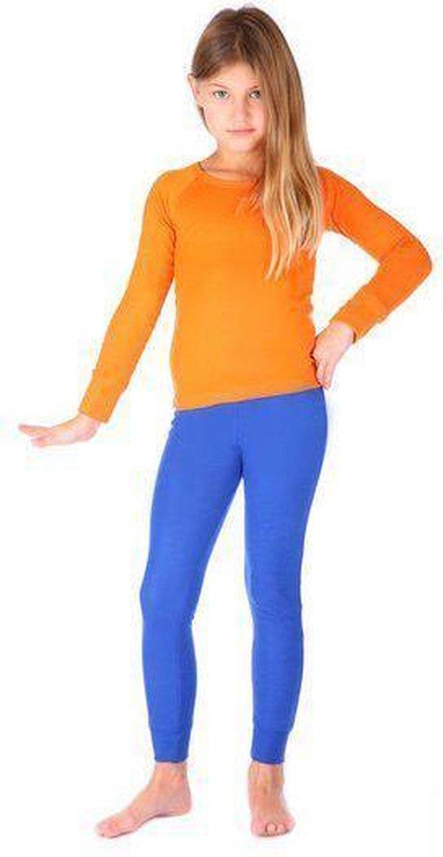 Thermo4sports - thermokleding - thermoset oranje - koningsblauw maat 128