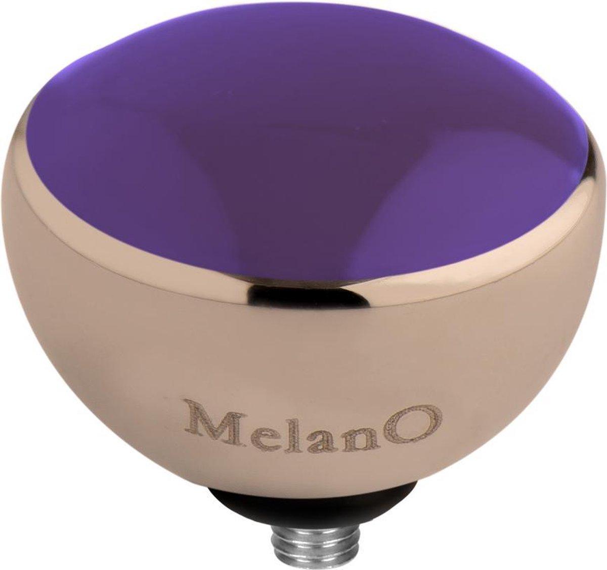MelanO Twisted resin Meddy - dames - rosegoldplated + purple resin - 8mm - Melano