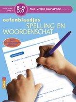 Tijd voor huiswerk  -  Oefenblaadjes spelling en woordenschat 8-9 jaar