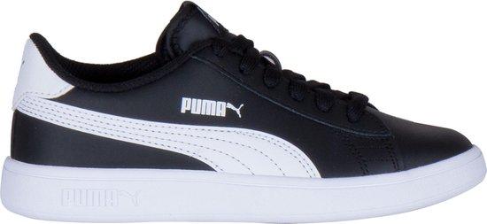 bol.com | Puma Smash V2 L kinder sneakers - Zwart - Maat 32