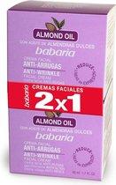 Indasec Babaria Almond Oil Anti-Wrinkle Facial Cream  2x50ml
