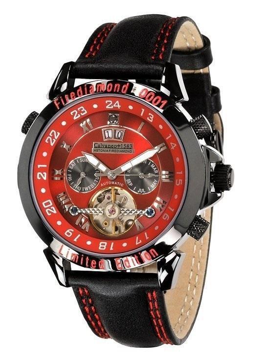 Calvaneo 1583 Calvaneo Astonia Firediamond Limited Edition - Horloge - 46 mm - Automatisch uurwerk