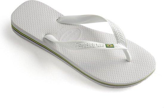 Havaianas Brasil Unisex Slippers - White - 39/40 - Havaianas