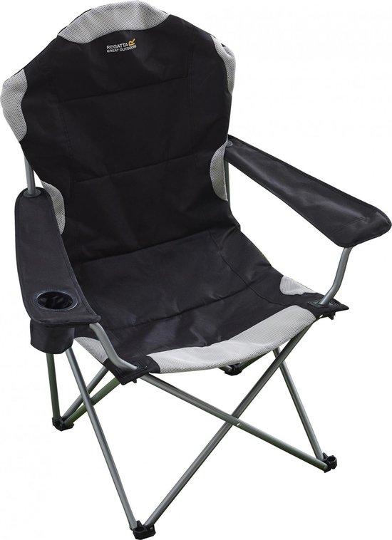 Regatta Kruza Chair - Vouwstoel met armleuningen - Zwart