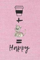 Coffee + Cat = Happy Notebook