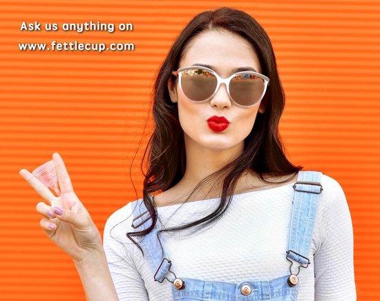 FettleCup Herbruikbare Menstruatiecup - Maat M Menstruatiecups - Duurzame Siliconen Menstruatie cup met Menstruatiecup Sterilisator (Groen)