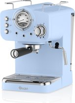 Swan Nordic Espressomachine - Blauw - met Stoompijpje