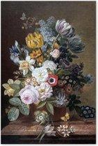 Stilleven met Bloemen - Eelke Jelles Eelkema - Schilderij op Canvas