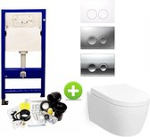 Geberit UP100 toilet set met Carosa One-Pack Design 48cm