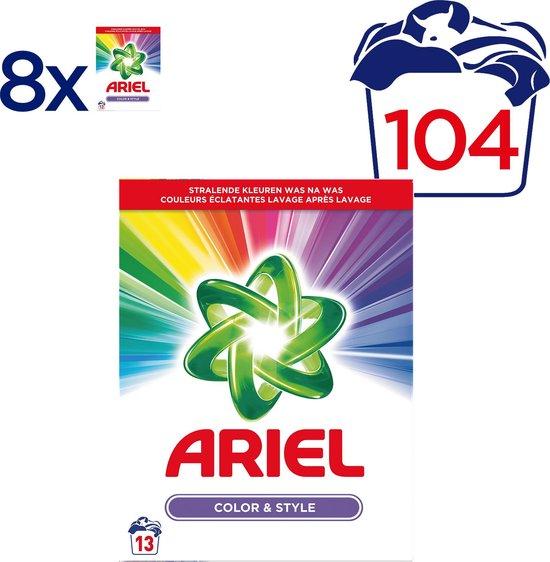 Ariel Kleur & Stijl Wasmiddel - Voordeelverpakking 104 Wasbeurten - Waspoeder