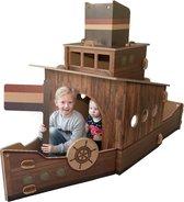 Van Hut Naar Her - Speelboot Dutch Design - Bruin