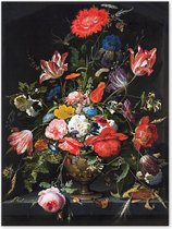 Graphic Message - Schilderij op Canvas - Bloemen in een metalen vaas - Abraham Mignon - Woonkamer