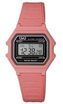 Digitaal Q&Q horloge zalmroze M173J020