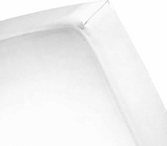 Cinderella Molton Hoeslaken - Tweepersoons - 120x200 cm - Wit