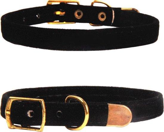 Hiden | Velvet Katten Halsband – Huisdier – Mooi & Gezond | Zwart
