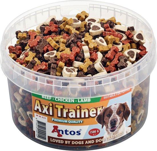 Antos Axi Trainer - Hondensnacks - Kip Lam Rund 1500 g