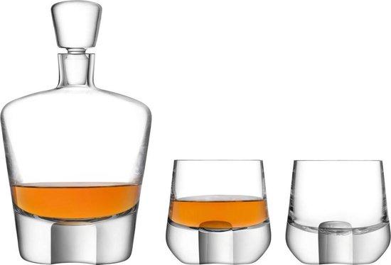 LSA International Whiskey Cut Whisky Set - Set van 3 stuks