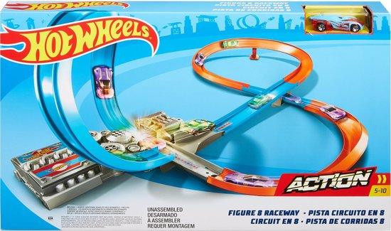 Afbeelding van Hot Wheels Figure 8 Raceway - Racebaan inclusief Hot Wheels Voertuig speelgoed