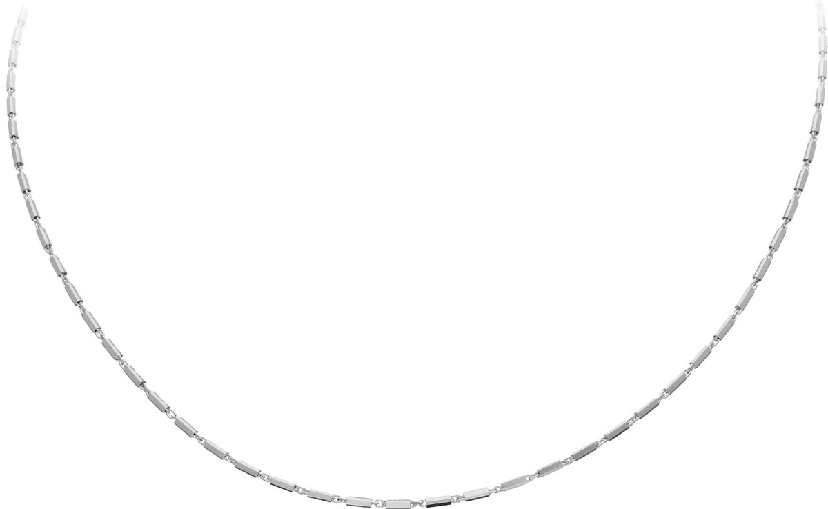 Classics&More ketting - zilver - staafjes - 45 cm